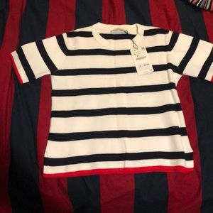NWT Zara knit striped top size small